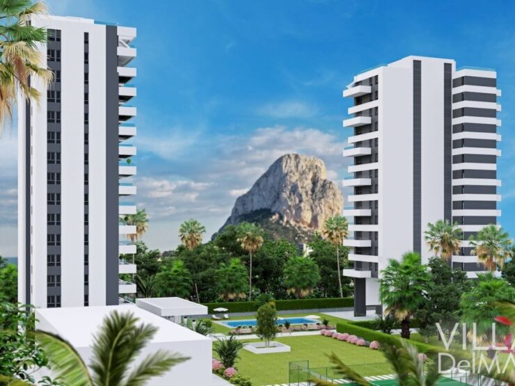 Calpe – New development Apartments only 400 meters to the beach and the center!
