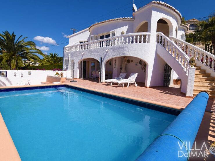 Calpe – Very nice classic villa with sea and mountain views!