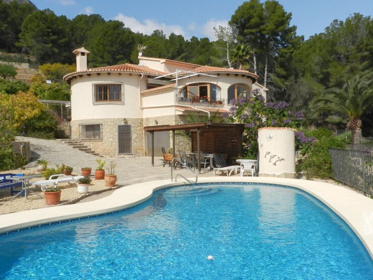 Calpe – Country villa with wonderful views overlooking the coast and sea!